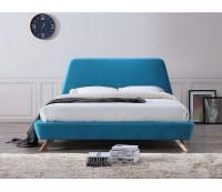 Кровать SIGNAL GANT, бирюзовая, серая, 160/200